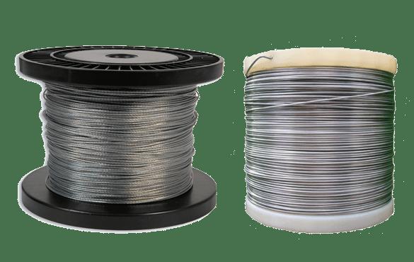 Fil aluminium et câblette acier
