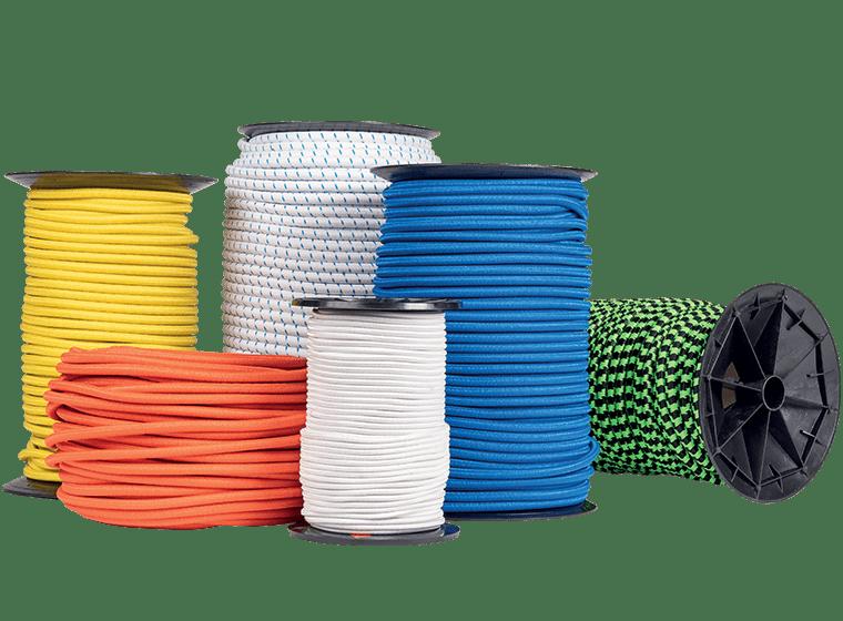 Câbles élastiques blanc jaune bleue