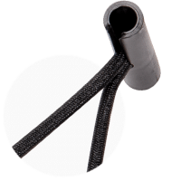 Macro buckle bungee cord with swivelling end piece