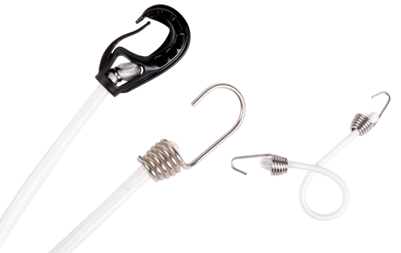 Marine tensioner bungee cords
