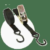 Macro Sangle 25mm noir avec cliquet et 2 crochets S