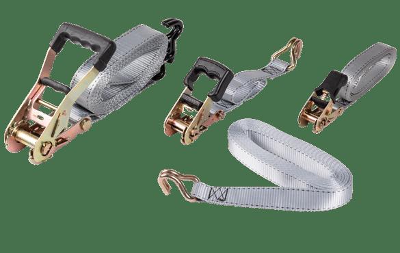 Sangles à cliquets ergonomiques